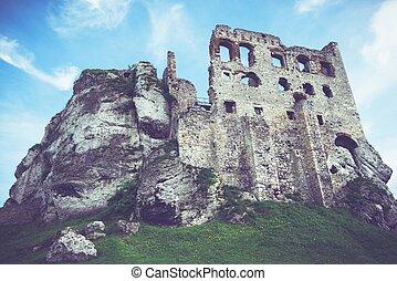 polacco, castello, medievale