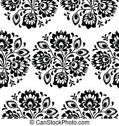 polaco, seamless, tradicional, floral