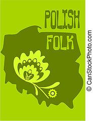 polaco, vector, -, illustration., gente