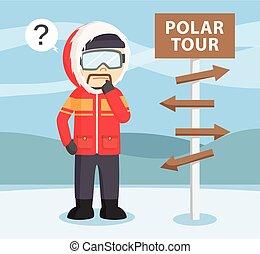 polaire, explorateur arctique, perdu