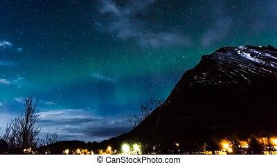 polaire, norvège, lumières