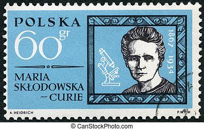POLAND - 1963: shows Marie Sklodowska Curie (1867-1934) -...