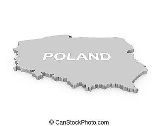 poland 3d map