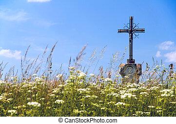 Old wayside cross