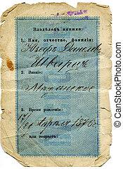Soviet passport - POLAND, CIRCA 1915: Soviet passport issued...