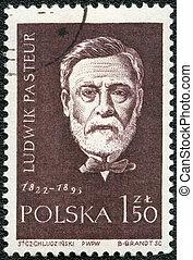 POLAND - CIRCA 1959: A stamp printed in Poland shows Louis Pasteur (1822-1895), series, circa 1959
