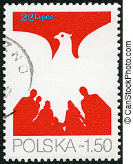 POLAND - CIRCA 1979: A stamp printed in Poland shows Eagle...