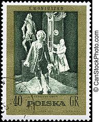 POLAND - CIRCA 1982 Frightful Castle