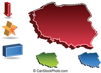 Poland country map
