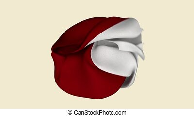 Poland Flag. Poland Banner. Europe Flags. Celebration. Flag Day. Patriots. Realistic Animation 4K. Surface Texture. Background Fabric.