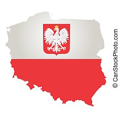 Poland Flag - Flag and coat of arms of the Republic of...