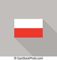 Poland flag flat design vector illustration