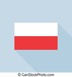 Poland flag , flat design vector with official proportion