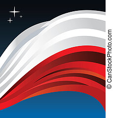 Poland flag illustration background