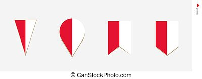 Poland flag in vertical design, vector illustration