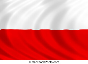 Poland flag of silk