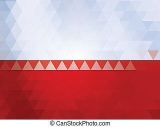 Poland flag of vector