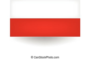 Poland Flag - Official flag of Poland.