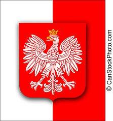 Poland flag with eagle