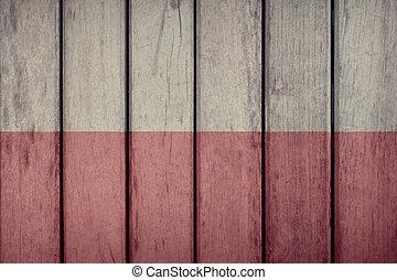 Poland Flag Wooden Fence