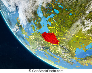 Poland from space on Earth