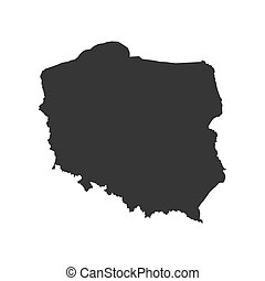 Poland map silhouette