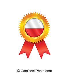 Poland medal flag