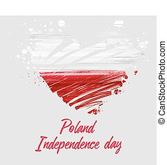 Poland National Independence day holiday background.