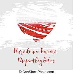 Poland National Independence day holiday background.