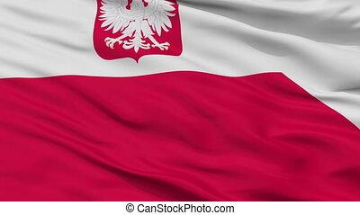 Poland Naval Ensign Flag Closeup Seamless Loop - Naval...