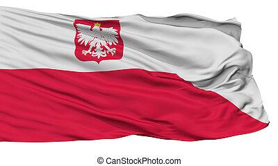 Poland Naval Ensign Flag, Isolated On White