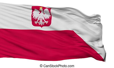 Poland Naval Ensign Flag Isolated Seamless Loop - Naval...