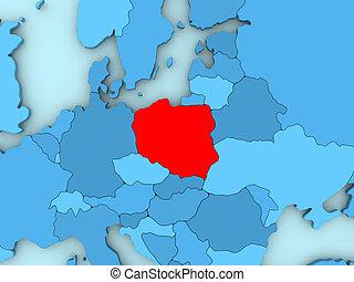 Poland on 3D map