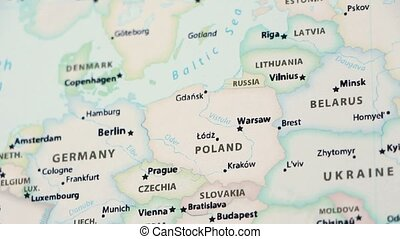 Poland on a Political Map