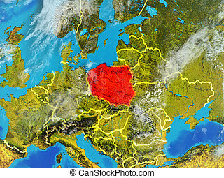 Poland on Earth from space