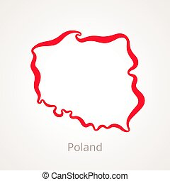 Poland - Outline Map