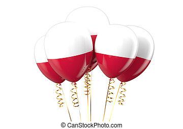 Poland patriotic balloons