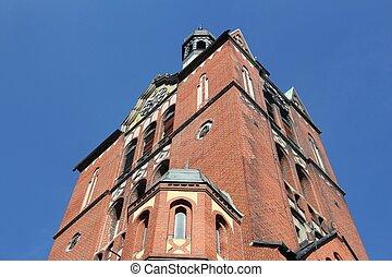 Poland - Piekary Slaskie. Church in Brzeziny district.