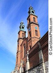 Piekary Slaskie in Upper Silesia (Gorny Slask) region of Poland. Neo-romanesque basilica of St Mary and St Bartholomew.