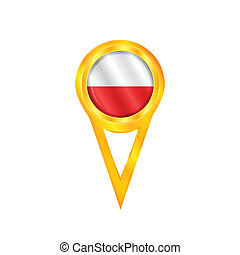 Poland pin flag