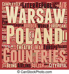 Poland text background wordcloud concept