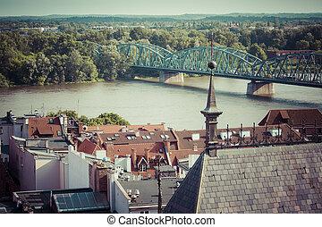 Poland - Torun, city divided by Vistula river between...