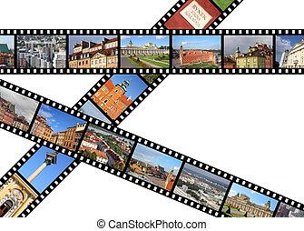 Poland - Warsaw - Warsaw, Poland. Illustration - film strips...