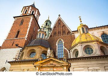 poland., wawel, palácio, real, krakow