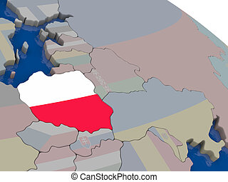 Poland with flag