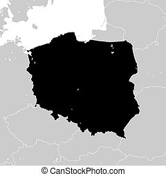 Poland with neighboring European countries