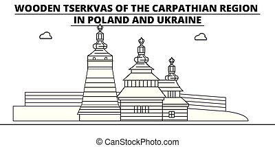 Poland - Wooden Churches In The Carpathian Mountain Area...