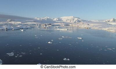 Polar antarctic vernadsky station aerial view - Polar...