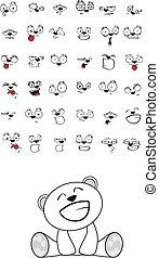 polar bear baby cute sitting cartoon set in vector format