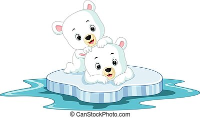 Polar bear cartoon - illustration of Polar bear cartoon